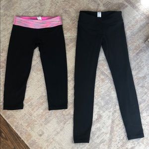 Ivivva Lululemon Black Size 7 Girls Leggings